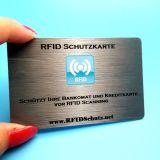 Luva de placa de bloqueio de RFID para cartão de crédito e protector do passaporte