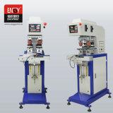 La Chine fabricant machine de tampographie 2 couleurs utilisé pour imprimer le logo de l'étiquette la machine