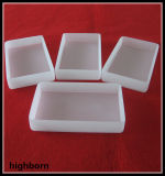 Calentador blanco lechoso del vaso del vidrio de cuarzo fundido con la tapa