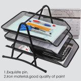 Продажи с возможностью горячей замены 3-слоев металлической сетки Office Организатор/Управление лоток и лоток