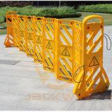 Barriera espandentesi di plastica gialla provvisoria di sicurezza per sicurezza stradale