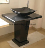 Countertop мрамора и гранита Китая каменный с раковиной для ванной комнаты