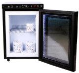 Ijskast van de Vertoning van de Deur van het glas de Mini met het Transparante LCD Scherm (jga-SC21HL)