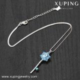 La clave de copo de nieve Xuping-00455 collar plata Collar de Oro turco de la cadena de cristales de Swarovski
