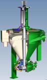 탄성 중합체에 의하여 일렬로 세워지는 수직 거품 펌프
