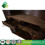 Scrittorio di legno/di legno curvo bianco su ordine professionale delle forniture di ufficio di ricezione da vendere Zbrc-888