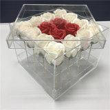 高い透過結婚式のアクリルのつぼのローズの花ボックス