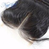 Estensione non trattata dei capelli umani del Virgin della chiusura del merletto dell'onda del corpo