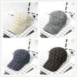 Шлем способа белый/черный шерстей бейсбольной кепки зимы