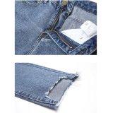 Lichtblauwe Dame Jeans met Speciale Was bij het Openen van het Been (HDLJ0047-18)