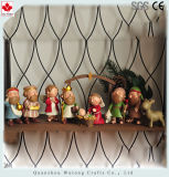 La resina personalizado estatuas religiosas Navidad Navidad establecer cifras