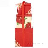 Conjunto de empaquetado grande impreso duro del rectángulo del rectángulo de regalo de la Navidad de las cajas de cartón
