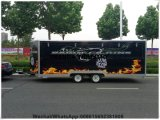 汽船のジュースバーのキオスクの商業フルーツのカートは移動式レストランの食糧手段を販売するポップコーンのカートを設計した