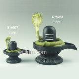 Señor negro de resina de la deidad Shiva Lingham estatua del dios hindú