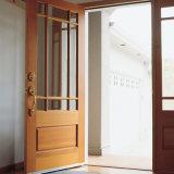 Porte d'entrée en bois solide de modèle simple pour la villa