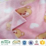 Tela coralina 100% del paño grueso y suave de la impresión del poliester para el pijama combinado de la albornoz del tiro