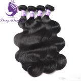 加工されていなく自然なカラーブラジルのRemyボディ波状毛のよこ糸