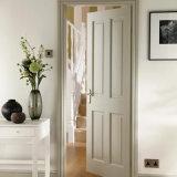 4 portes composées de blanc en bois solide de salle de bains intérieure de panneau