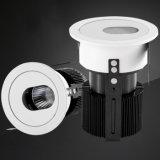125mmの排気切替器のホテルLEDの照明30Wクリー族の穂軸LED Downlight