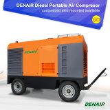 17bar Motor Diesel Portátil Compressor de ar de parafuso rotativo fábrica de Xangai