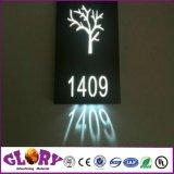 Muestra al aire libre de la iluminación del LED y rectángulo ligero para hacer publicidad de la visualización