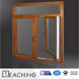 تصميم إبداعيّة ألومنيوم يرتدي خشبيّة [أوت-سوينغ] ضعف توأم شباك نافذة