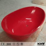 Hotel Freestanding Artificial Stone Resin Red Bath Tub