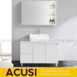 Assoalho - vaidade branca montada do banheiro da madeira compensada do estilo moderno (ACS1-L67)