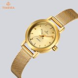Form-Dame-Quarz-Uhr-Goldkleid-wasserdichte Armbanduhren 71348