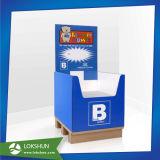 Personnalisé parquetant le présentoir de poubelle de carton