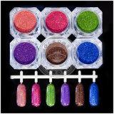 砂糖カラーレーザーHoloのきらめきのゲルの釘の芸術の顔料の粉