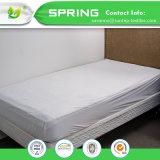 Equipado de algodón transpirable, impermeable protector de colchón de hojas dobles