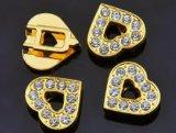 ドッグカラーおよびブレスレットのための10mmの金の中心ペット魅力そしてスライダ