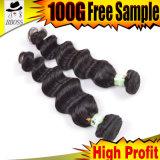 Il tessuto allentato dei capelli indiani è molto popolare per le donne di colore