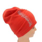 Оптовая торговля Custom печать Slouchy Джерси хлопка Beanie Red Hat