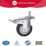 6 Zoll-Bremsen-Platten-Schwenker-industrielle Gummifußrolle