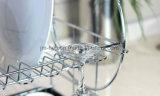 [كروم-بلتد] سلك فولاذ [2-تير] [ديش رك] مع [درينبوأرد] وسكينة فنجان