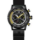 Популярный силиконовый чехол водонепроницаемый спорта многоцветный просмотр пользовательских мужские спортивные силиконовые часы