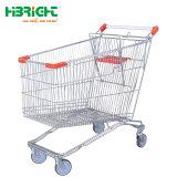 De estilo europeo, recubierto de polvo de carrito de compras de supermercado