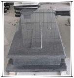 G654 het Donkere Grijze Monument van de Grafzerk van de Grafsteen van de Grafstenen van het Graniet Dwars
