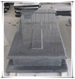 Monumento cinzento escuro da lápide da lápide dos Headstones da cruz do granito G654