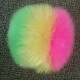 O Pompom da pele do falso de Keychain da pele Assorted Pompons coloridos