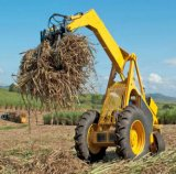 Zuckerrohr-hölzerne Ladevorrichtung mit 3 Rädern und 360 Dreh