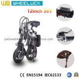CE 36V señora plegable City E-Bici de 12 pulgadas con 250W el motor Assit