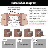 Custom extrusão da vedação da porta durável de precisão