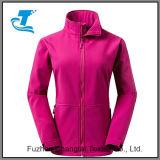 Exterior de la mujer Front-Zip Windproof chaqueta Softshell