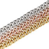 El oro de PVD plateó diseño del encadenamiento del oro de Dubai del acero inoxidable nuevo