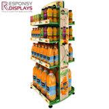 강한 정연한 관 쟁반 오렌지 주스 진열대 지면 금속 음료 선반 선반