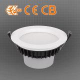 ENEC LED abajo LED ligero heló Downlight 0-10 que amortiguaba muere la cubierta del molde