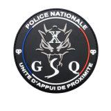 魔法テープとの上げられたロゴによるカスタマイズされた警察ゴム製PVCパッチ